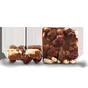 Schokolade mit Crunchy Cranberry - Produktkonzept ISM