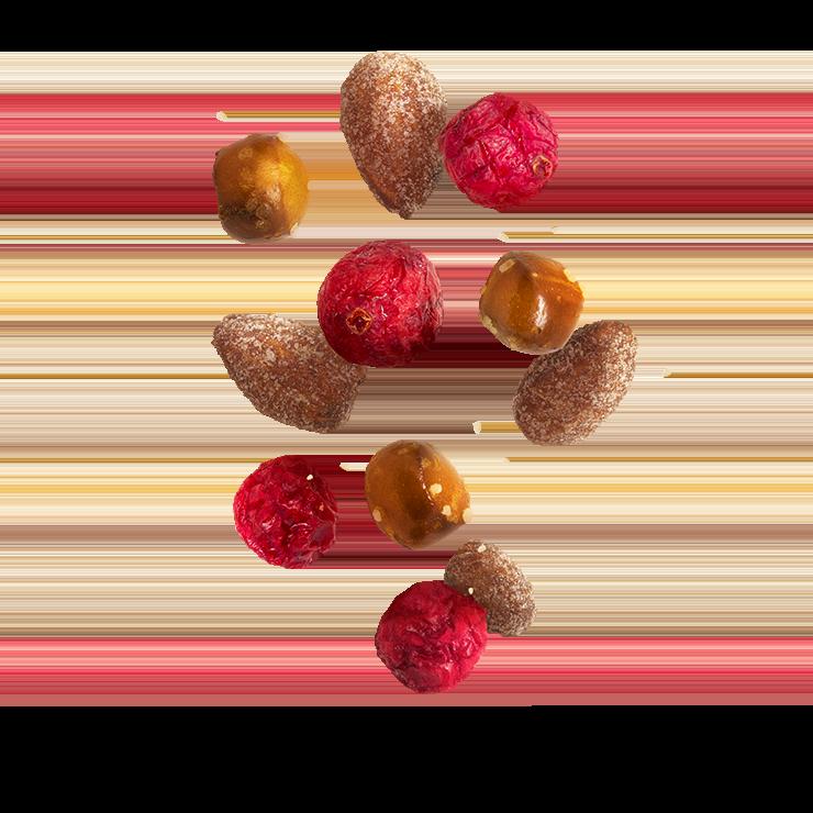 Farbenfrohe Snacks mit Crunchy Cranberrys™